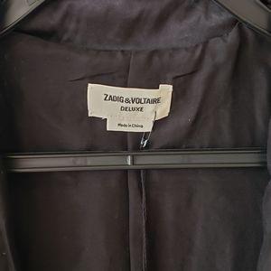 Zadig & Voltaire Jackets & Coats - Black Sequin Bomber Jacket